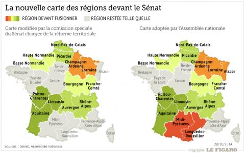Territoriale hervorming: 15 regio's in plaats van 13