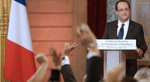 Franse president op de Europese toer