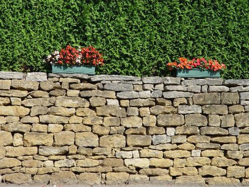 Tuinmuren wonen en leven in frankrijk - Muur steen duidelijk ...
