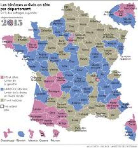 Eerste resultaten departementsverkiezingen