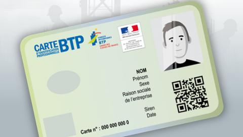Carte BTP, identiteitskaart in de bouw verplicht in Frankrijk