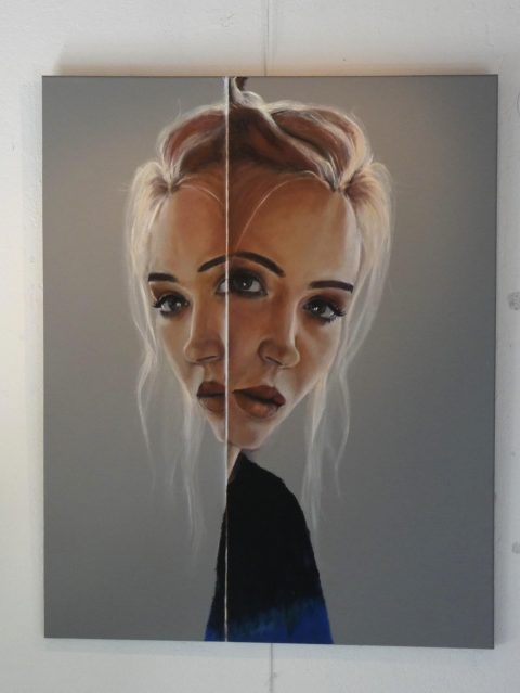 Marianne van Nunen schildert abstract en figuratief in olie, acryl en aquarel