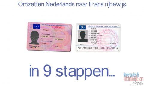 Omzetten Nederlands naar Frans rijbewijs